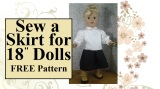 Tutorial: #Sew a Skirt for #18inchDolls (With FREE #Sewing Pattern)