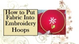 How to Put #Fabric Into an #Embroidery Hoop @ ChellyWood.com #Stitchery