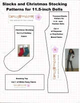 Pattern for making a #miniature #holiday #stocking is free @ ChellyWood.com