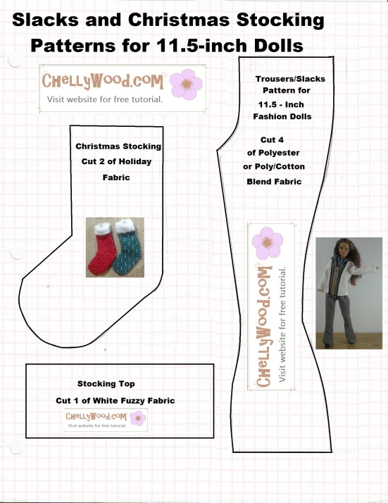 Pattern for making a #miniature #holiday #stocking is free ...