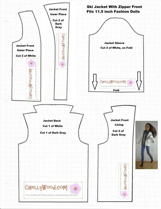 Sew A Zipper Jacket For Fashiondolls W A Free Sewing Pattern
