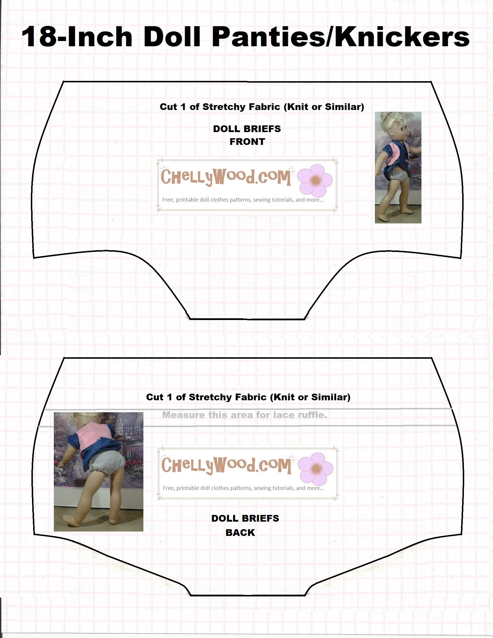 picture about 18 Inch Doll Patterns Free Printable identified as Absolutely free behavior for #DollClothes Undies @