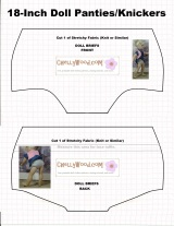 FREE pattern for #DollClothes Undies @ ChellyWood.com #Dollstagram #sewForKids
