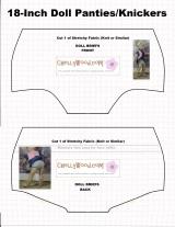 FREE pattern for #DollClothes Undies @ ChellyWood.com #Dollstagram#sewForKids