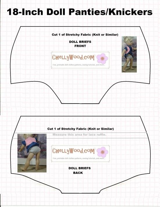 Free Pattern For Dollclothes Undies Chellywood Dollstagram