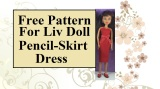 Pencil Skirt #SummerDress for #Dolls w/free #Pattern @ ChellyWood.com