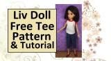 DIY Raglan-Sleeve #Tshirt Tutorial for #LivDolls @ ChellyWood.com#Dollstagram