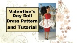 #ValentinesDay #DollDress pattern and tutorial from ChellyWood.com is free &#Crafty
