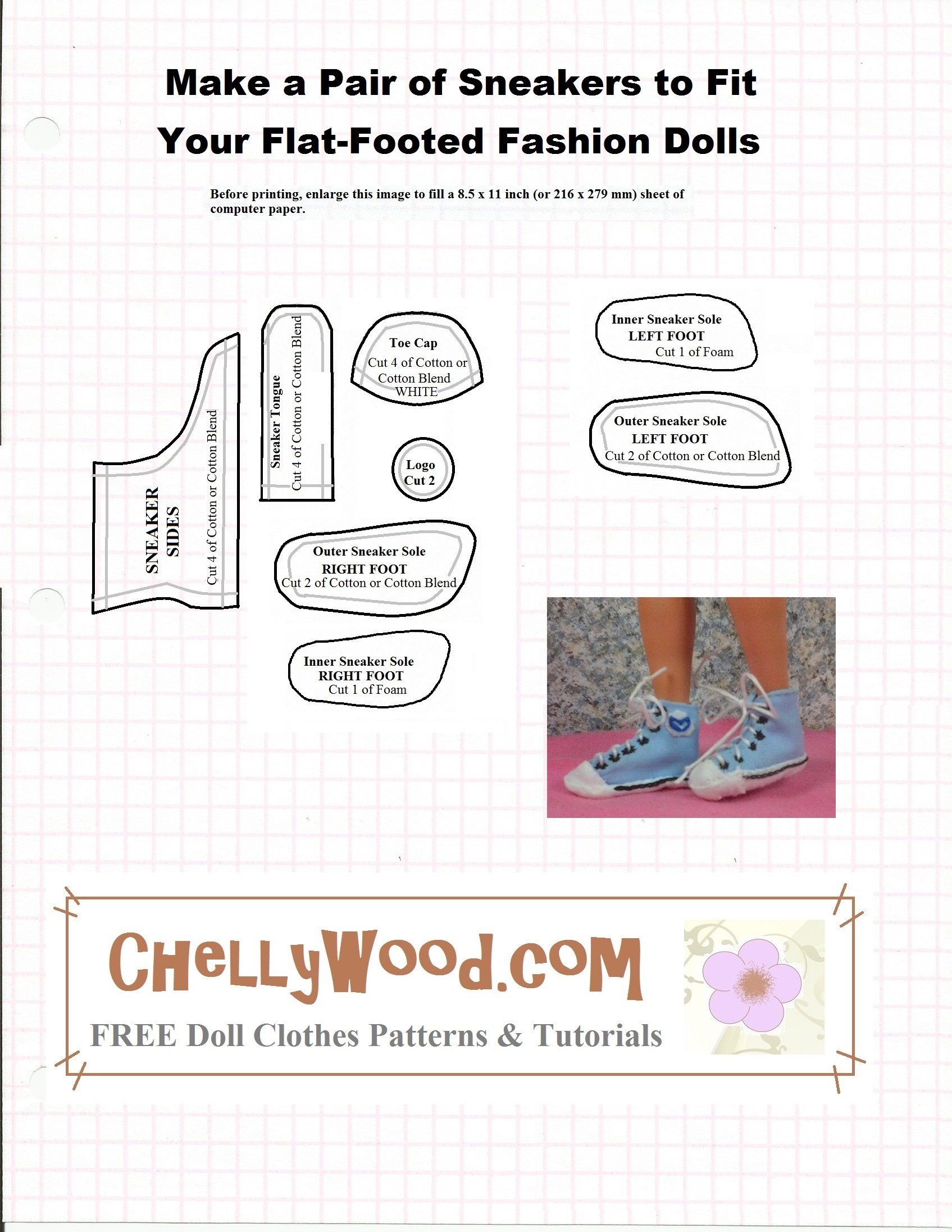 photograph about 18 Inch Doll Shoe Patterns Free Printable identified as Sew a Few of #Footwear for your #FashionDoll w/ Absolutely free