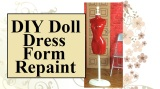 #BarbieDoll #DressForm DIY for Your #Dolling Diorama @ ChellyWood.com