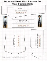 Male #FashionDoll jeans and shirt #sewingPattern is #1 on my list!