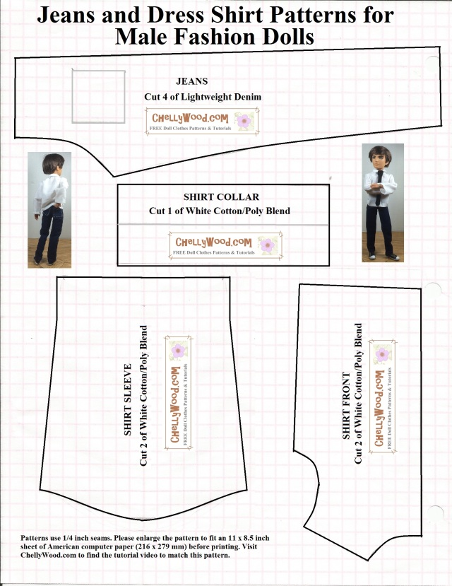 GI Joe Clothes FREE #Sewing #Patterns @ ChellyWood.com   Chelly Wood