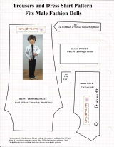 Male fashion #Dolls' #Shirt and pants pattern is #7 on my top free sewing patternslist