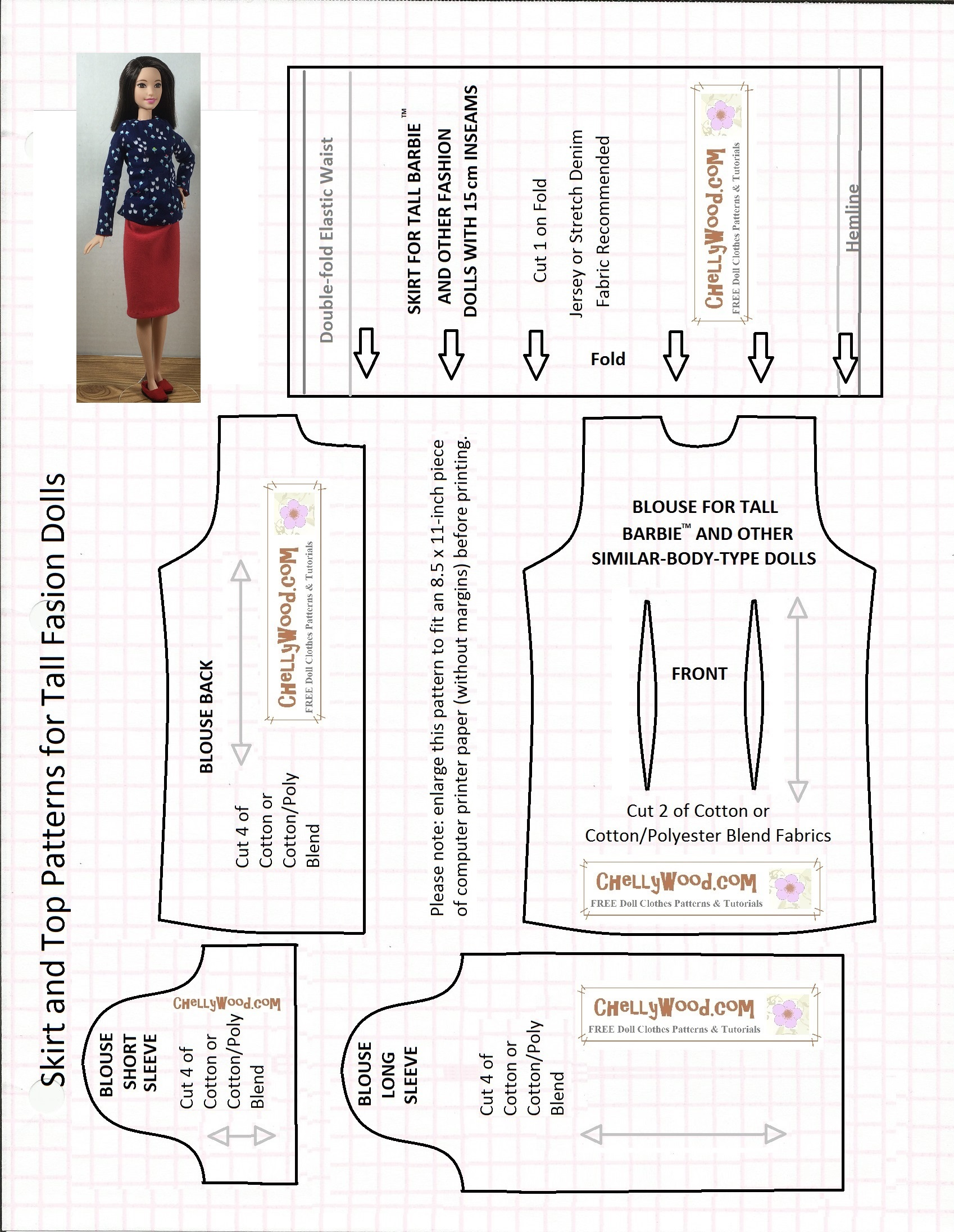 It's just a picture of Nerdy Printable Barbie Clothes Patterns