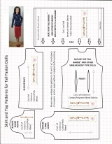 #TallBarbie skirt and top is #11 on my top 15 free sewing patterns list#TheDollEvolves