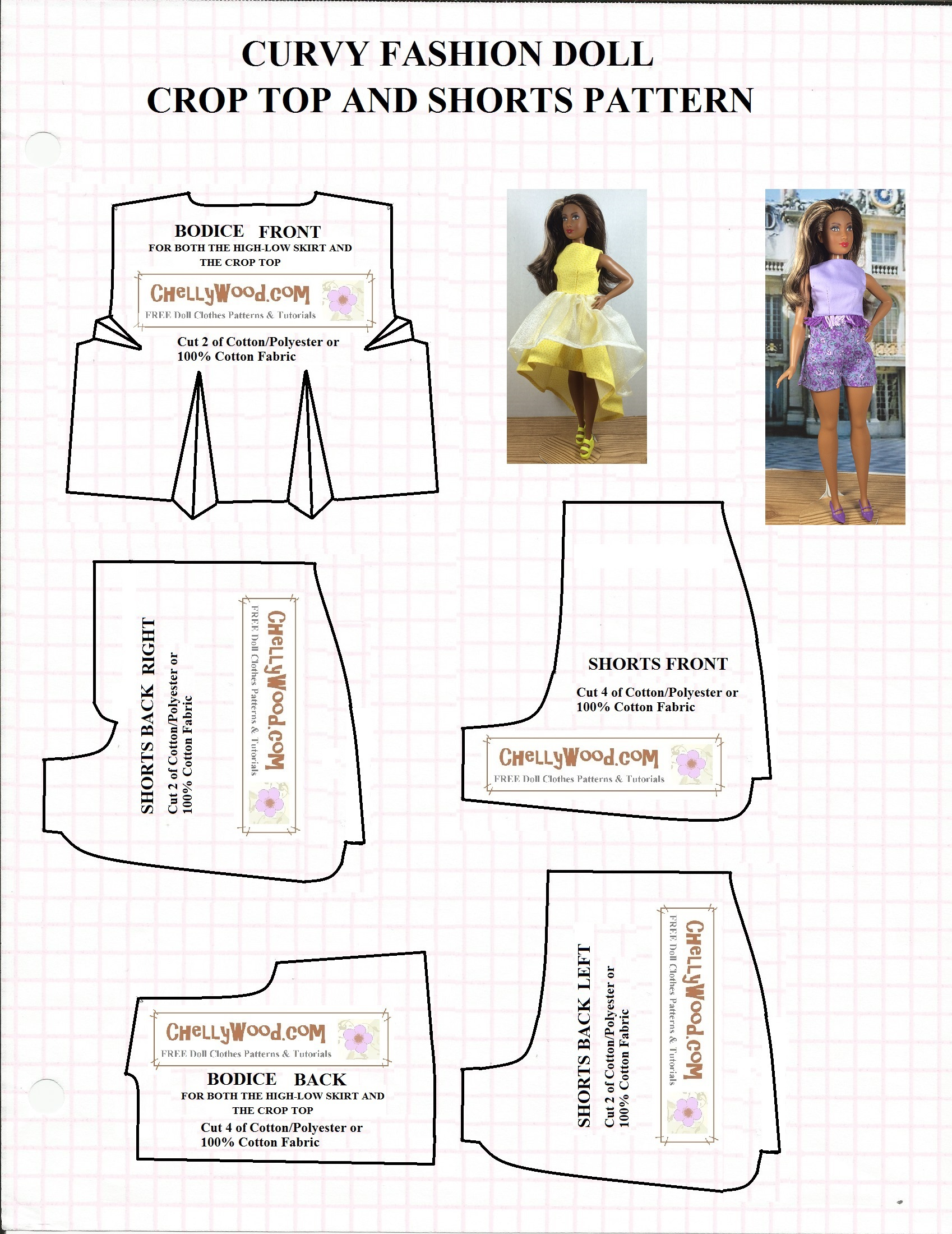 Insane image for printable barbie patterns