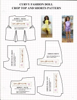FREE Curvy #Barbie® Pattern as #TheDollEvolves (fits other #Dolls too) @ChellyWood.com