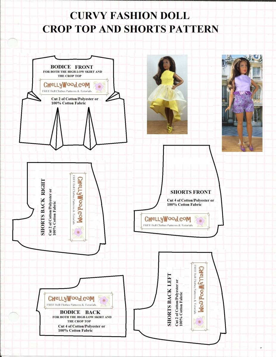 This is a photo of Vibrant Barbie Doll Clothes Patterns Free Printable
