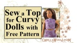 Sew a shirt for #Curvy #dolls w/this free tutorial @ ChellyWood.com #dollcollector