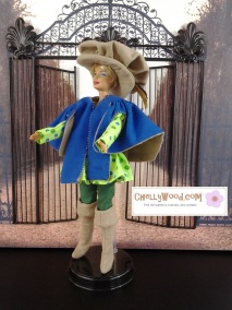 Visit ChellyWood.com for free, printable sewing patterns and tutorials for this fashion doll musketeer costume.