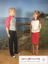 #Sew outfits for fashion #Dolls w/ FREE #sewing patterns @ ChellyWood.com