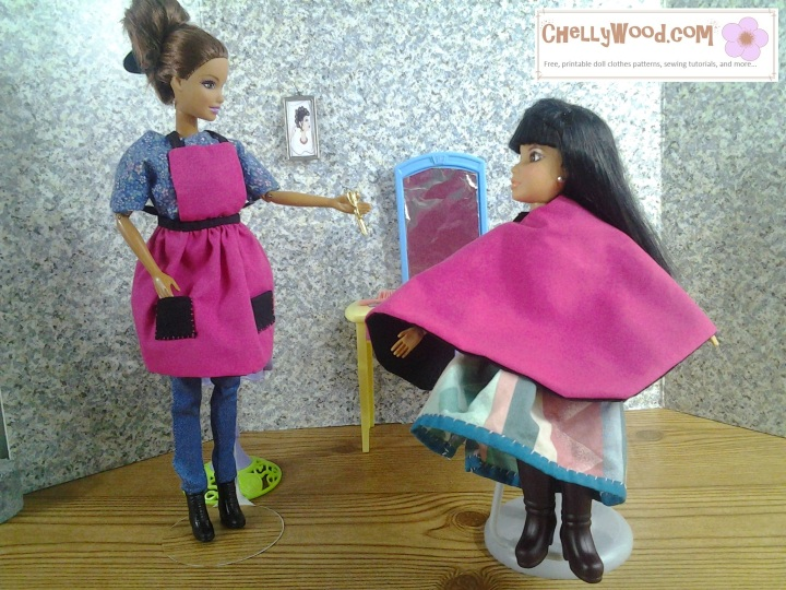 Visit ChellyWood.com for free, printable sewing patterns to fit dolls of many shapes and sizes.