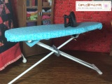 #DIY Adjustable IroningBoard for #Dolls' #Dollhouse @ ChellyWood.com