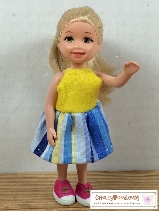 PollyPocket ™ sundress with free pattern and easy-sew tutorial ...