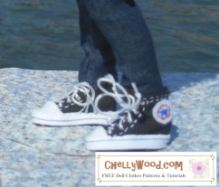 Click here to find all the patterns and tutorials you'll need to make this project: https://chellywood.com/2016/07/25/sew-a-pair-of-sneakers-for-your-fashiondoll-w-free-pattern/