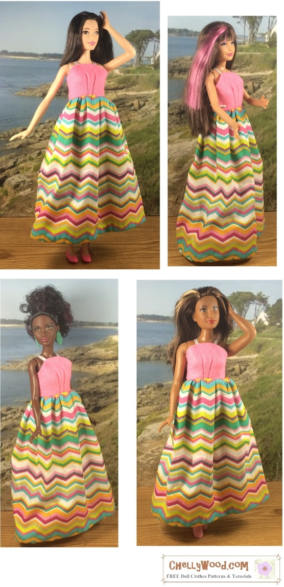 Free printable sewing pattern for tall barbie curvy barbie petite ...