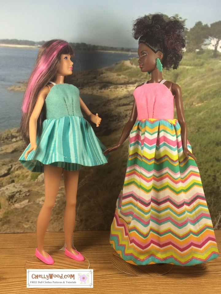 Petite and Skipper in Sundresses