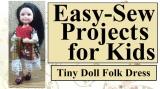 How to make a #tiny #folk #BarbieDolls' dress