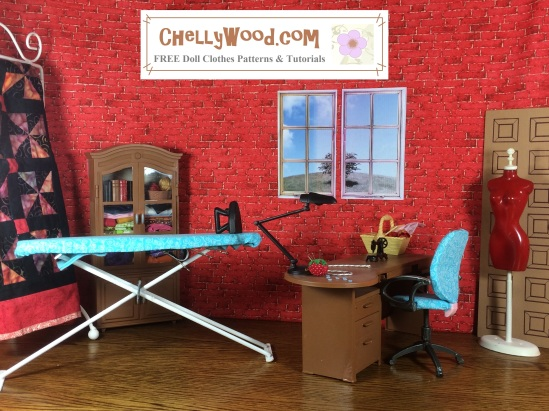 Click here to find all the patterns and tutorials you'll need to make this project: https://chellywood.com/2016/08/31/doll-sewingroom-diy-tutorials-chellywood-com/