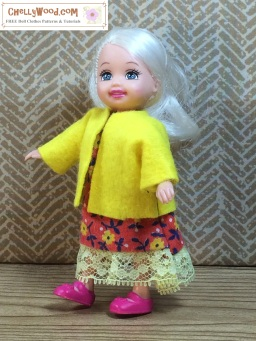 Click here to find all the patterns and tutorials you'll need to make this project: https://chellywood.com/2016/09/08/free-sewing-pattern-for-tiny-dolls-coat-w-easy-diy-tutorial/