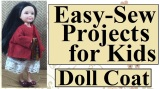 Free #sewing pattern for tiny #dolls' coat w/ easy #diytutorial