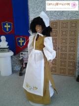 Sew a #Thanksgiving #Pilgrim dress for #Barbies ® w/ FREEpatterns