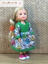 #Miniature #dolls' dress pattern is free @ ChellyWood.com #dollhouse