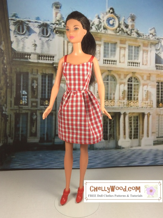 Easy Sew Dress For Barbies W Free Pattern Chellywood