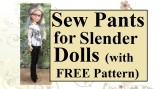 #DIY Pants #Tutorial Video for #Dolls @ ChellyWood.com