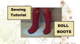 What's the #1 free sewing pattern #tutorial from ChellyWood.com? #Doll boots: