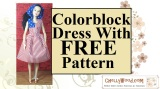 FREE pattern for fashion #doll #craft: sew a #July4th patrioticdress!