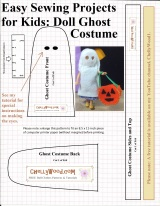 #GhostStories abound with a #Dolls ghost costume #pattern