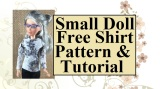 #DIY Tutorial for Slender #Dolls' Shirt @ ChellyWood.com