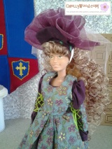 Make a #Tiara for #Barbie #Dolls with a free pattern fromChellyWood.com