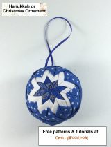 Free pattern and tutorial for #noSew #quilting holiday #ornament @ ChellyWood.com