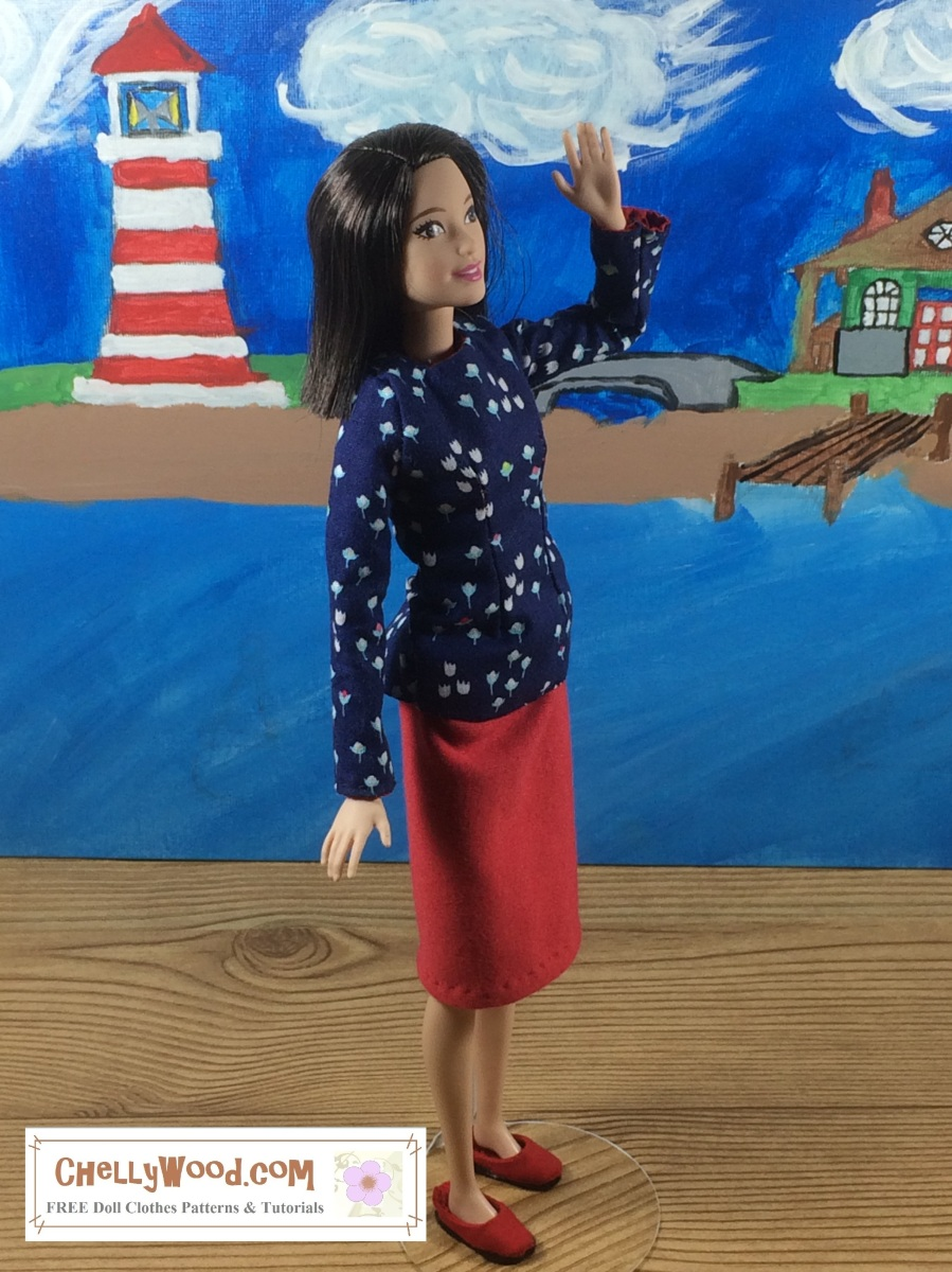 Sew an outfit for tall #Barbie w/ free patterns ...