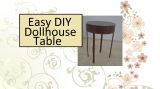 #DIY table for fashion #dolls (tutorial @ ChellyWood.com)