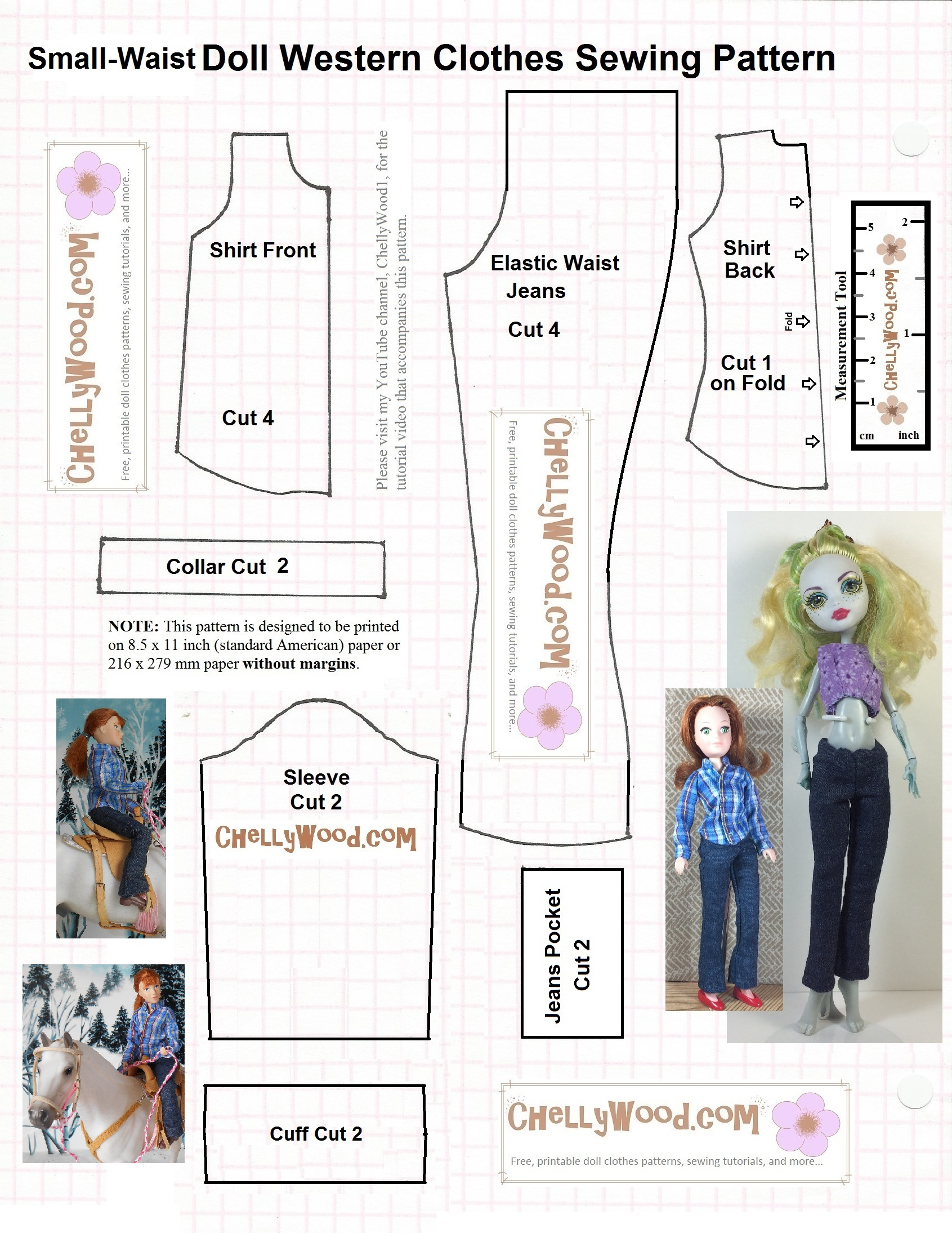 Daily Patterns – Free, printable doll clothes sewing patterns for