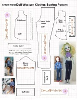 FREE printable sewing pattern for #Breyer® #Rider #Dolls @ ChellyWood.com