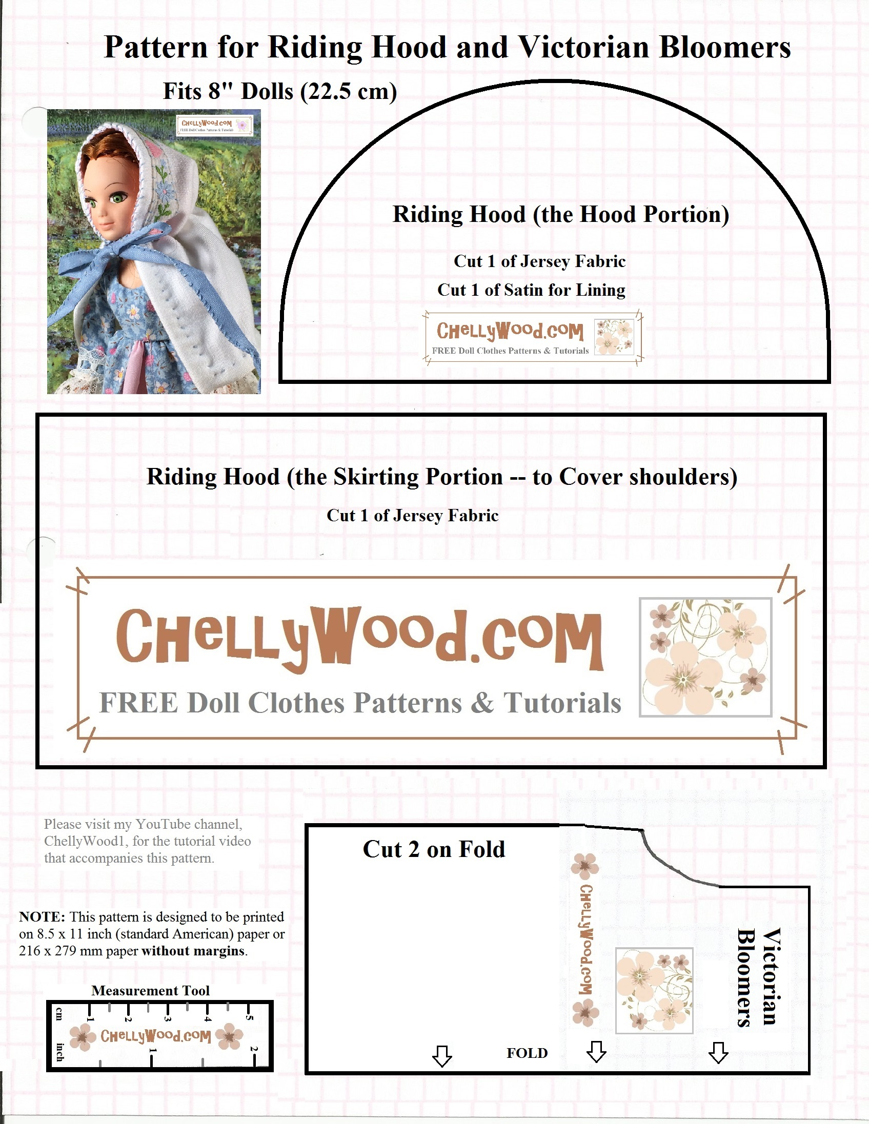Free dolls pantaloons sewing pattern and tutorial chellywood its truly amazing how many dolls can fit into this pattern jeuxipadfo Choice Image